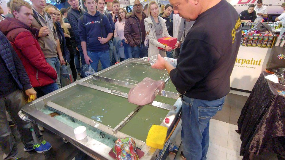 Water transfer printing LIVE demonstration